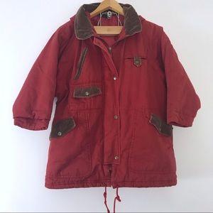 Vintage • Japanese Red Corduroy Oversized Coat